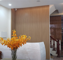 Vách ngăn spa gỗ hay vách ngăn phòng khách gia đình VNP01