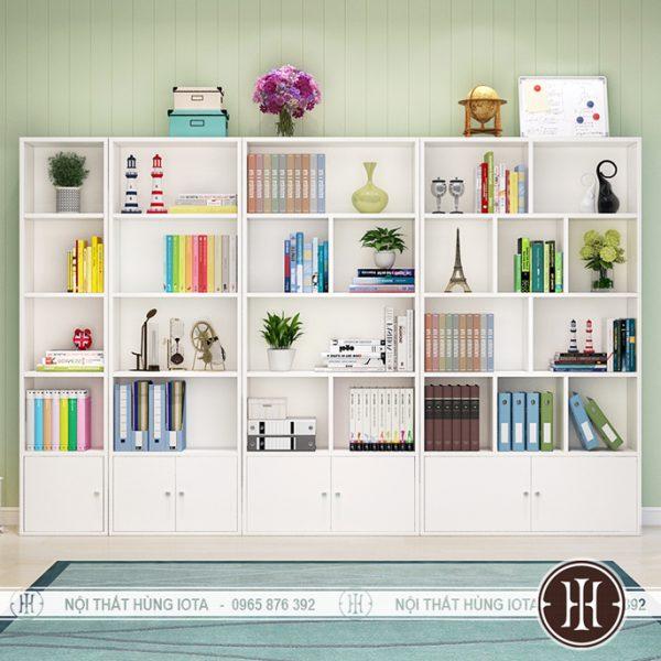 Tủ đựng sản phẩm spa nhiều ngăn màu trắng có tủ