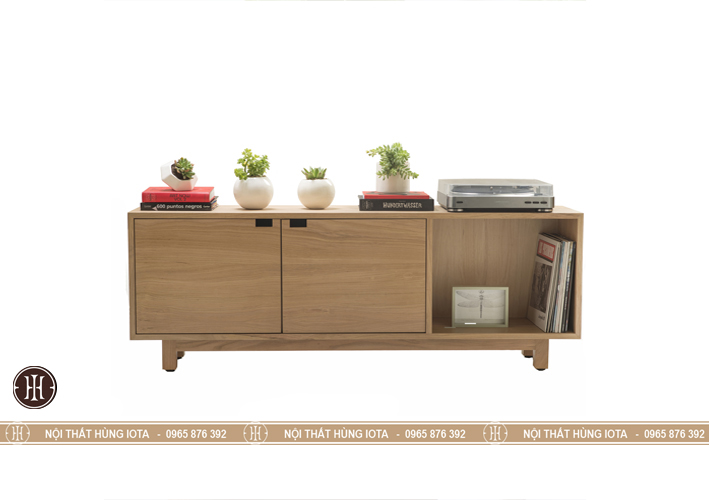Tủ gỗ decor 2 cánh tủ và 1 hộc tủ đựng đồ gia đinh, spa, nail, salon tóc