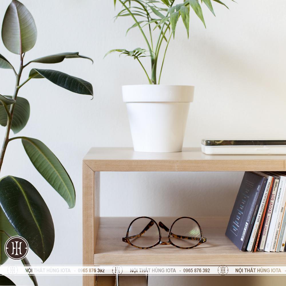 Tủ gỗ đựng đồ đơn giản cho phòng khách