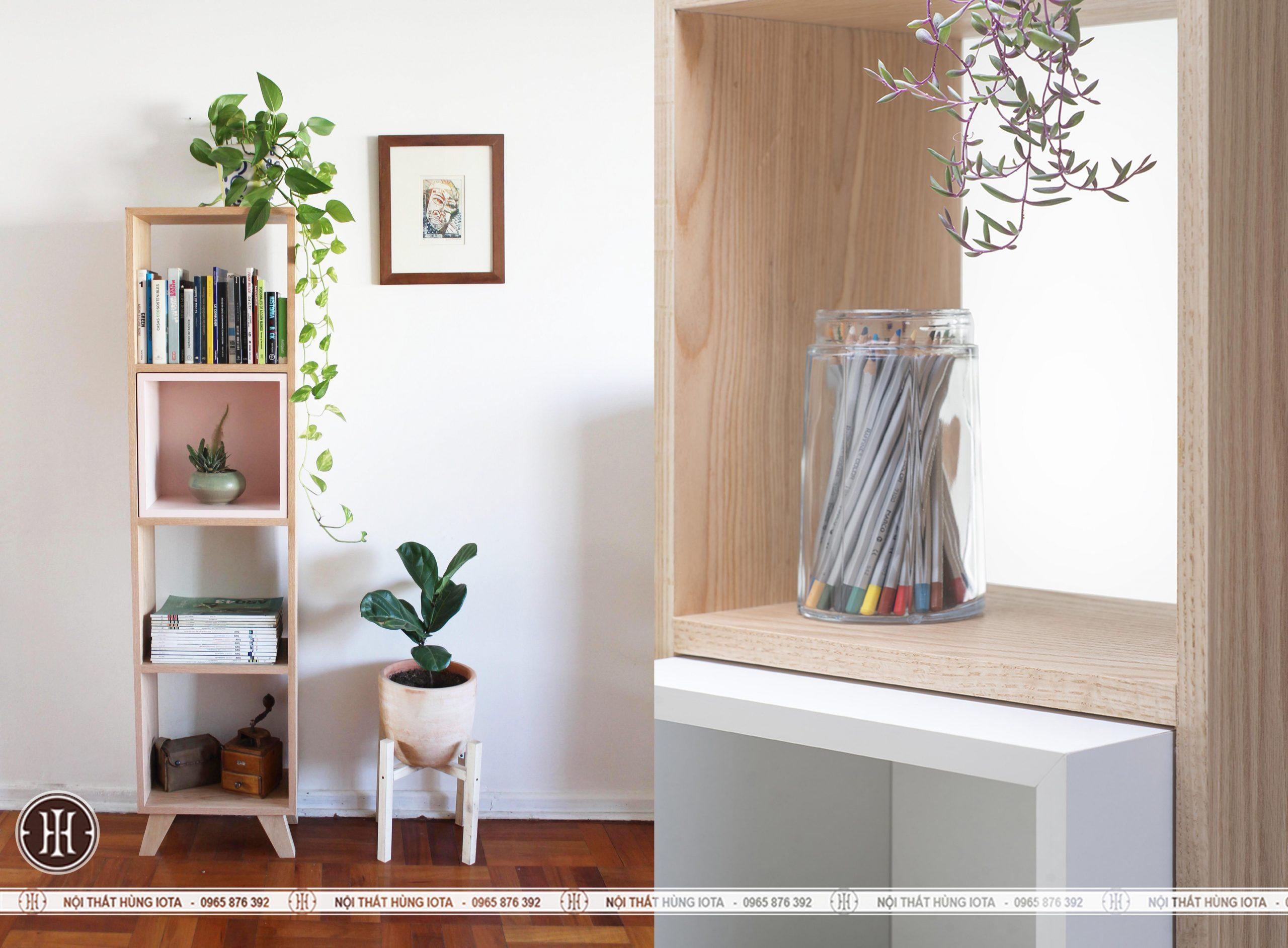 Tủ gỗ đựng đồ gia đình cao 4 tầng đẹp giá rẻ