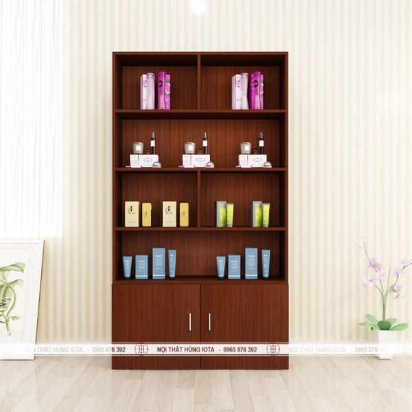 Tủ spa giá rẻ hay tủ trưng bày sản phẩm giá rẻ màu nâu