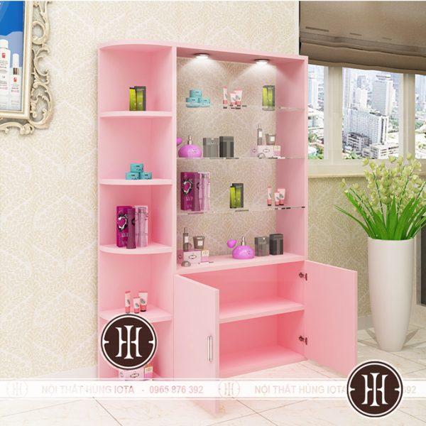 Tủ spa màu hồng cạnh cửa đẹp giá rẻ