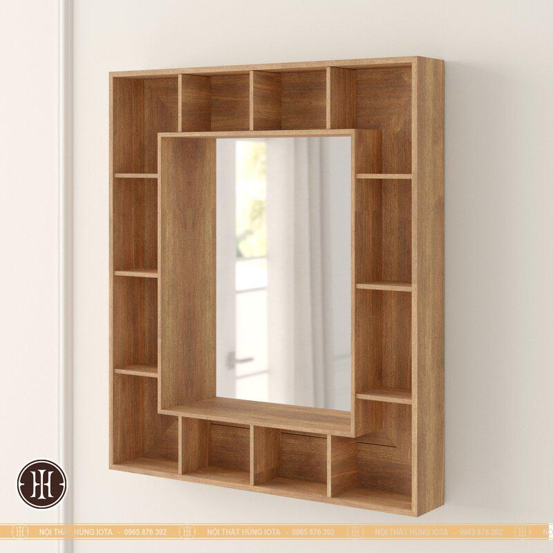 Tủ treo tường gỗ có gương nhiều ô tủ salon tóc