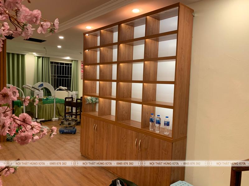 Tủ trưng bày sản phẩm spa, tủ trưng bày mỹ phẩm thẫm mỹ viện