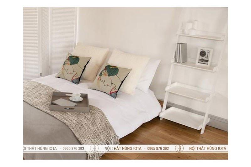 Kệ gỗ hình thang decor đựng đồ trang trí phòng ngủ đầu giường