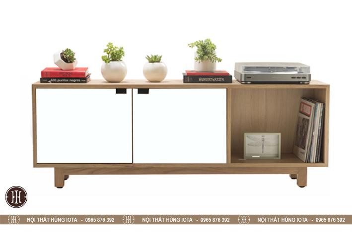 Kệ tivi decor gỗ đựng đồ cho phòng khách, phòng ngủ