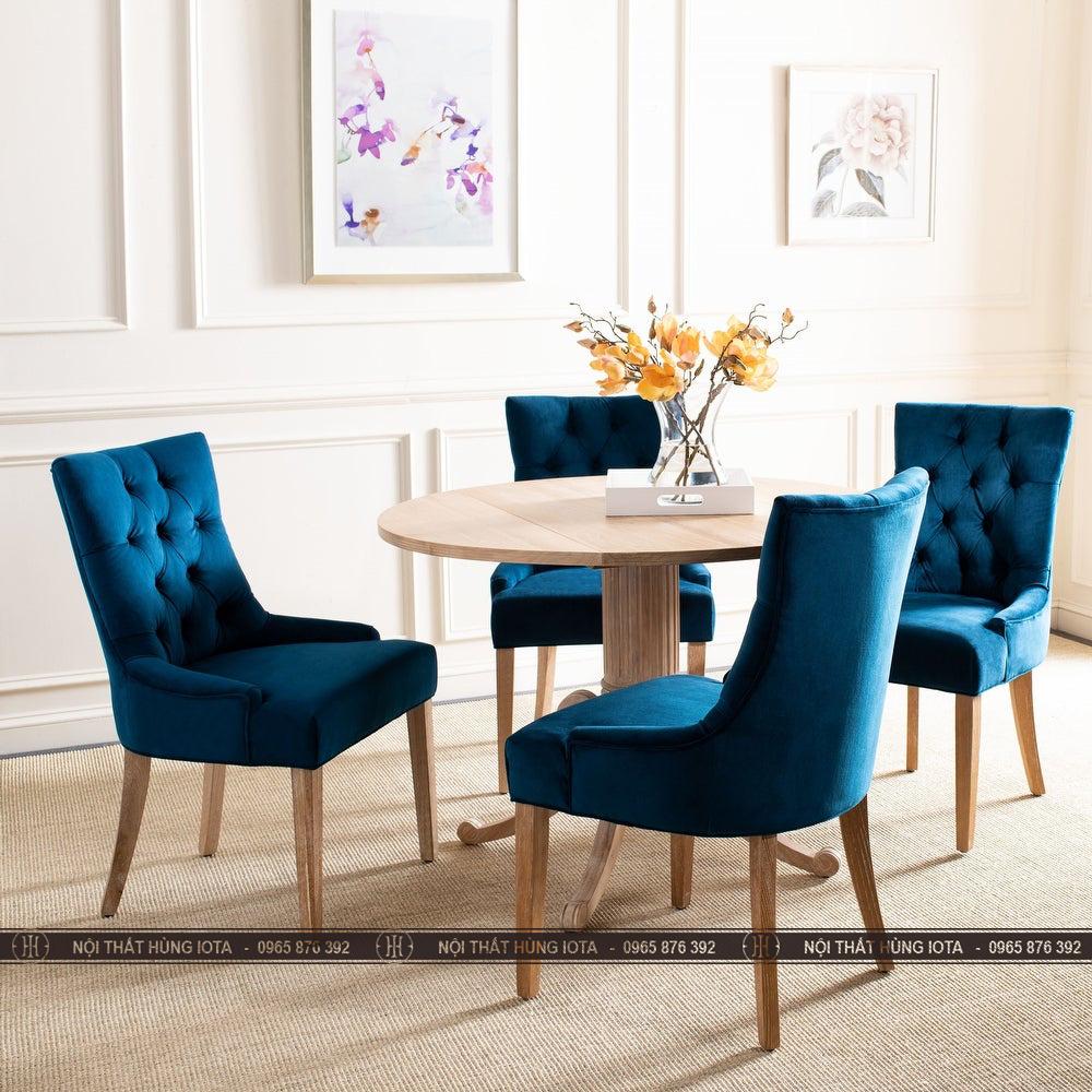 Bàn ghế làm việc decor màu xanh navi sang trọng, tinh tế đẹp giá rẻ