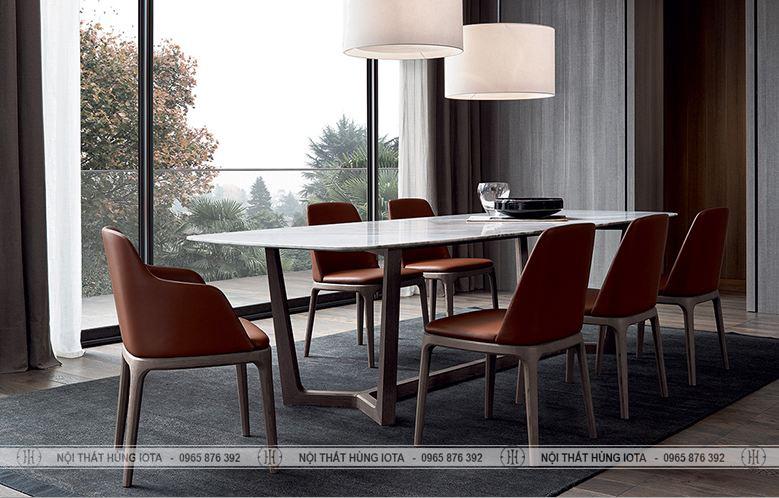 Bộ bàn ghế ăn Grace, bộ bàn ghế làm việc gỗ sồi decor đẹp giá rẻ