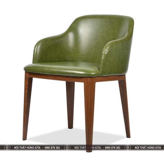Ghế Grace có tay 2 bên màu xanh, chân tiện tròn đẹp giá rẻ tại xưởng