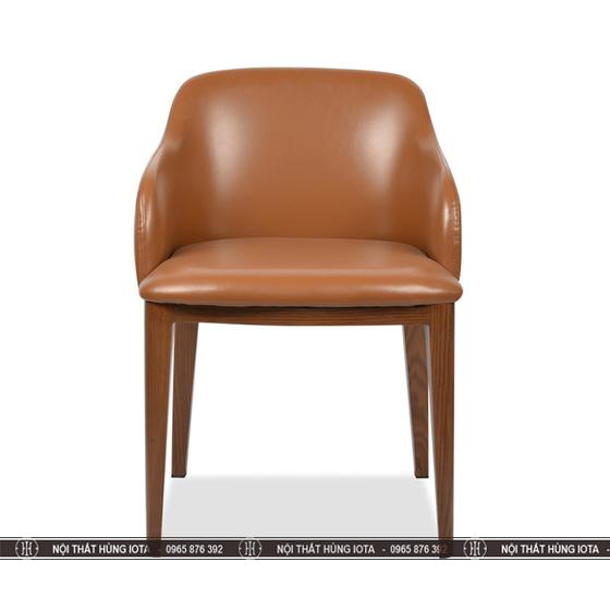 Ghế ngồi uống cafe màu cam Grace có tay 2 bên đẹp phong cách decor