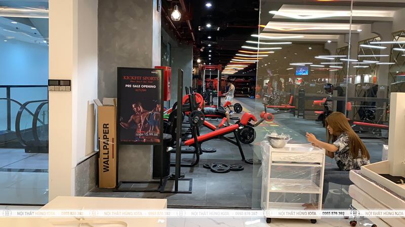Giường massage cho phòng tập Kickfit Sports Trương Định Plaza