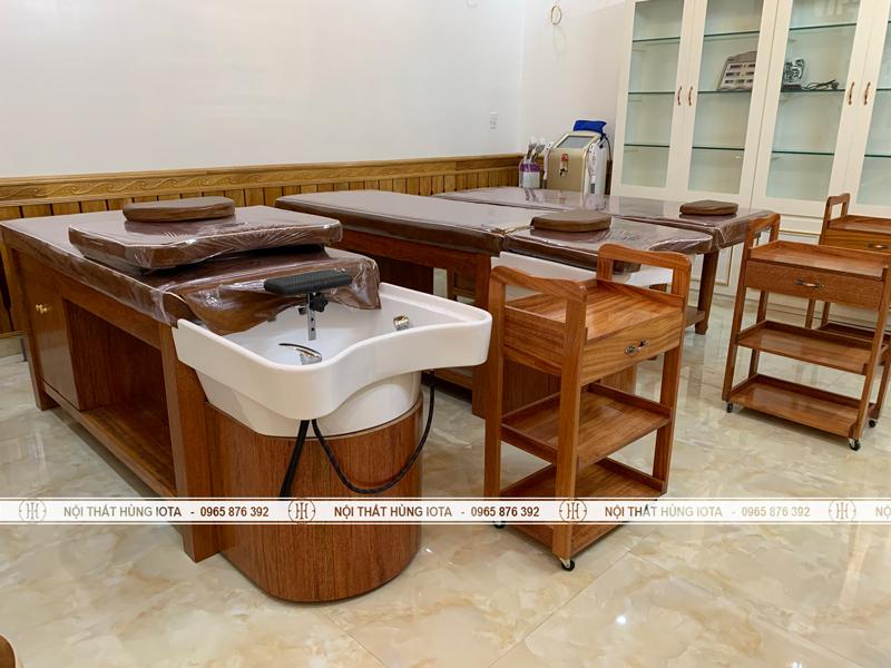 Lắp đặt giường gội dưỡng sinh và giường massage body tại Lạng Sơn