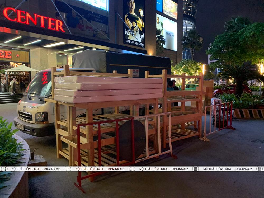 Lắp đặt giường spa cho chung cư Vinhomes Nguyễn Chí Thanh