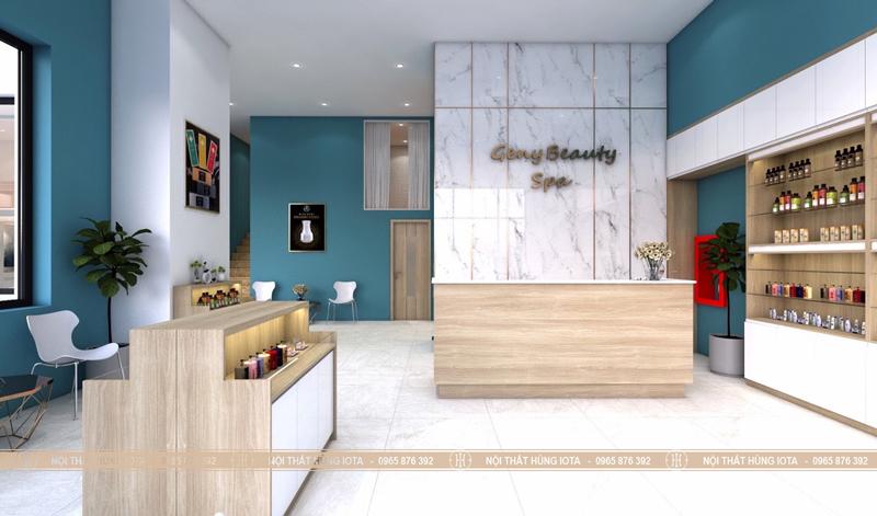 Lắp đặt nội thất Geny Beauty Spa ở Vũ Phạm Hàm, Cầu Giấy