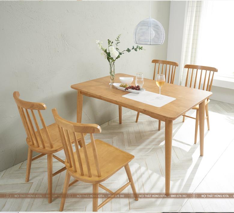 Bàn ghế ăn gia đình Pinnstol 7 nan song tiện đẹp giá rẻ