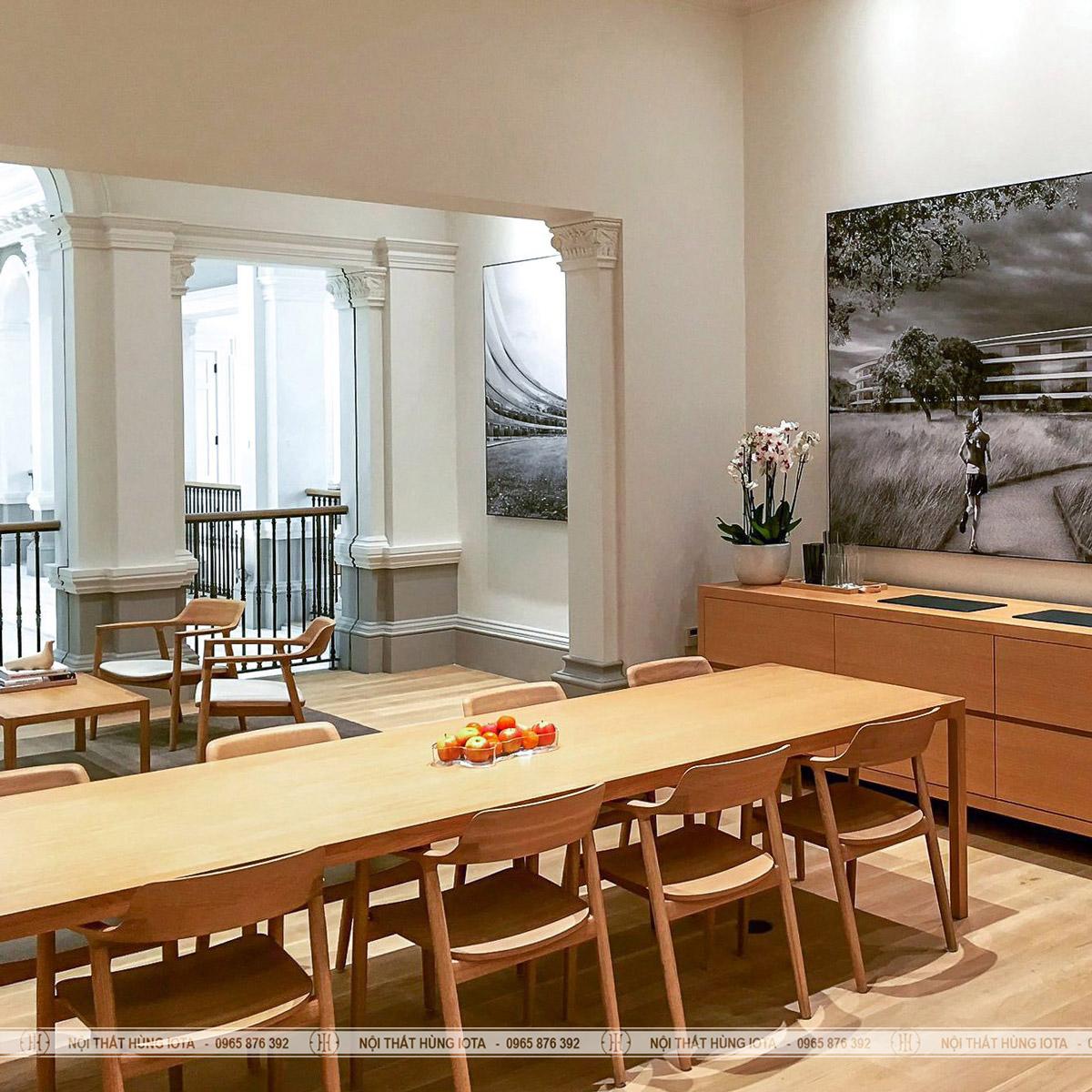 Bàn ghế làm việc Hiroshima gỗ decor đẹp giá rẻ tại xưởng