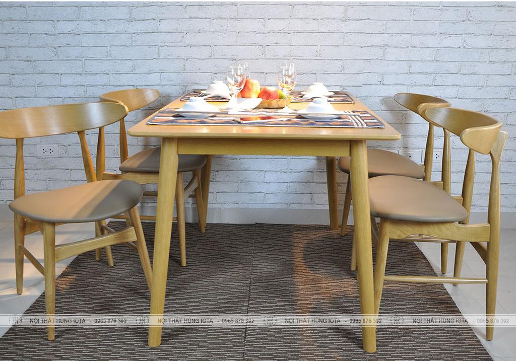 Bộ bàn 4 ghế ăn hình mặt trăng decor đẹp giá rẻ tại xưởng