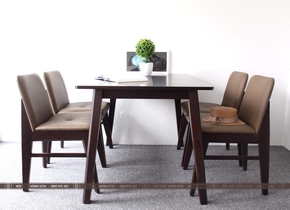 Bộ bàn ghế ăn decor 4 ghế Obama đẹp giá rẻ cho nhà chung cư