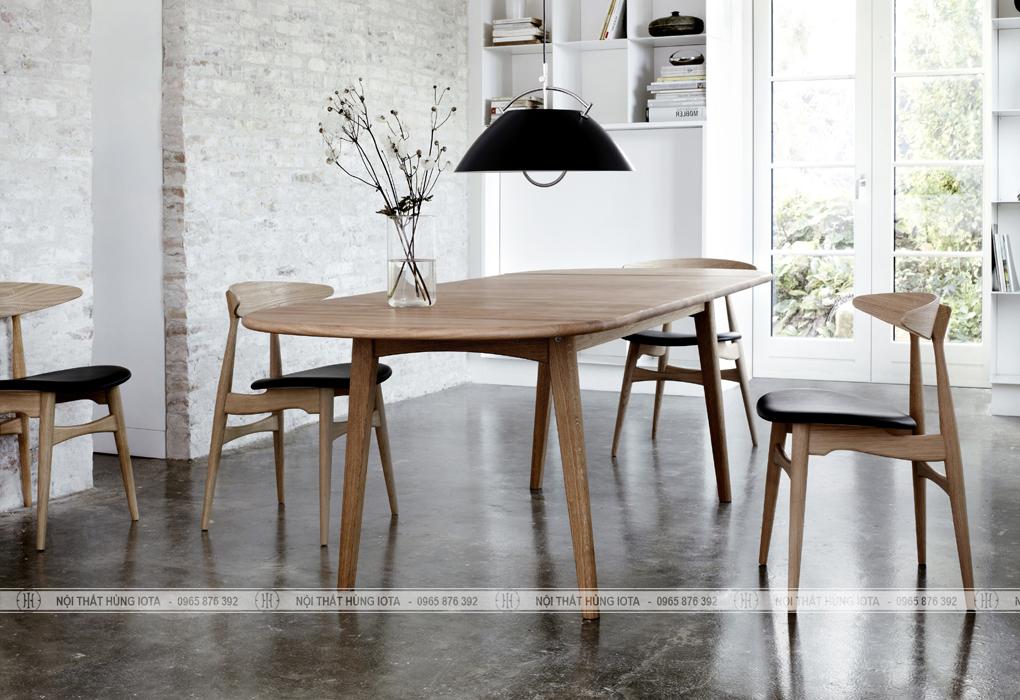 Bộ bàn ghế ăn decor hình mặt trăng đẹp giá rẻ tại xưởng