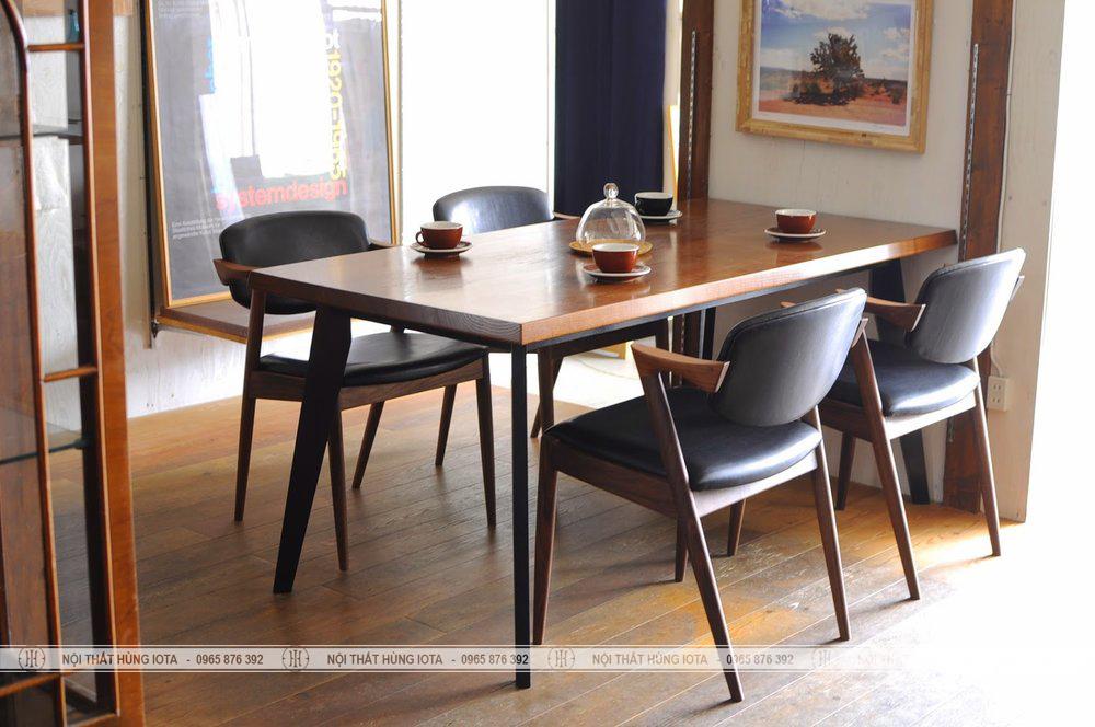 Bộ bàn ghế ăn gia đình chữ Z decor đẹp giá rẻ Kai hay ghế tiếp khách kai