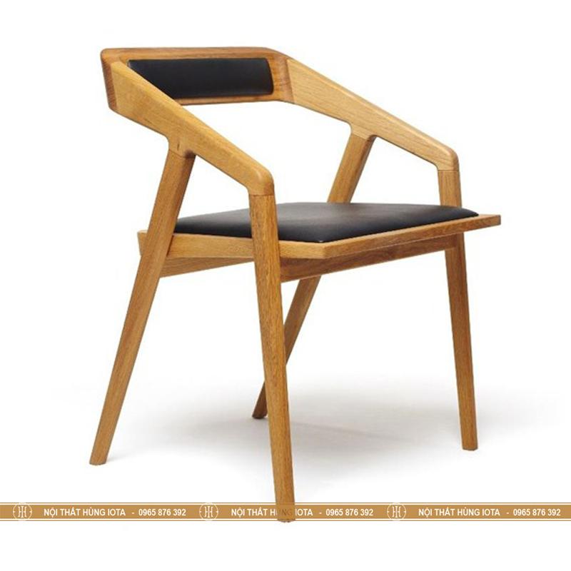 Ghế gỗ ngồi quán trà sữa màu vàng gỗ đẹp giá rẻ