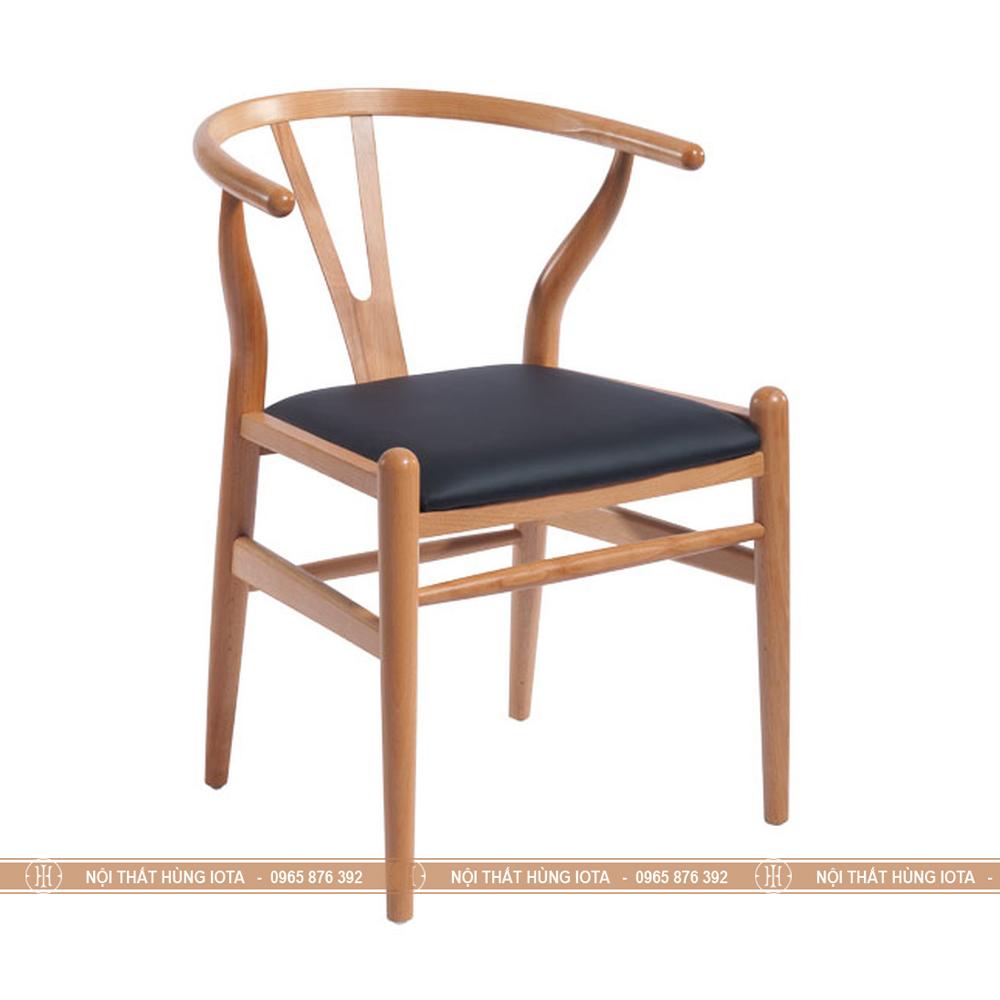 Ghế gỗ wishbone sang trọng màu đen vàng đẹp giá rẻ