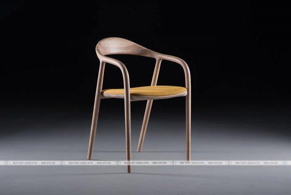 Ghế gỗ decor ngồi uống trà sữa, ghế ngồi cafe neva màu vàng đẹp giá rẻ