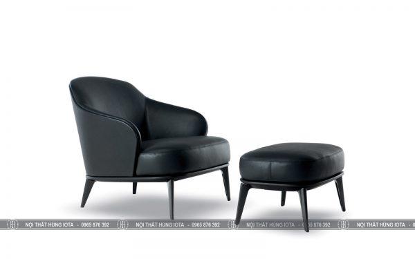 Ghế Minotti màu đen đẹp giá rẻ tại xưởng sản xuất Hùng Iota