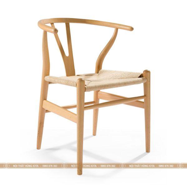 Ghế wishbone màu vàng trắng đan mây đẹp giá rẻ