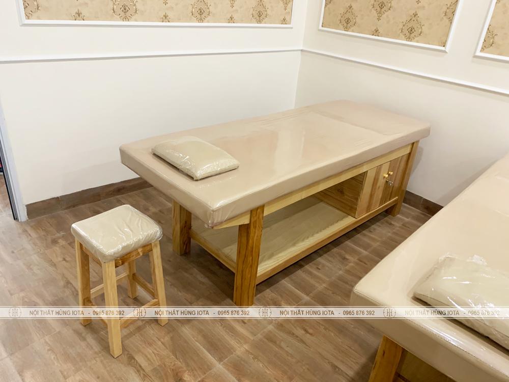 Giường massage body có tủ lắp đặt tại Lào Cai cho THẩm mỹ viện SH Spa