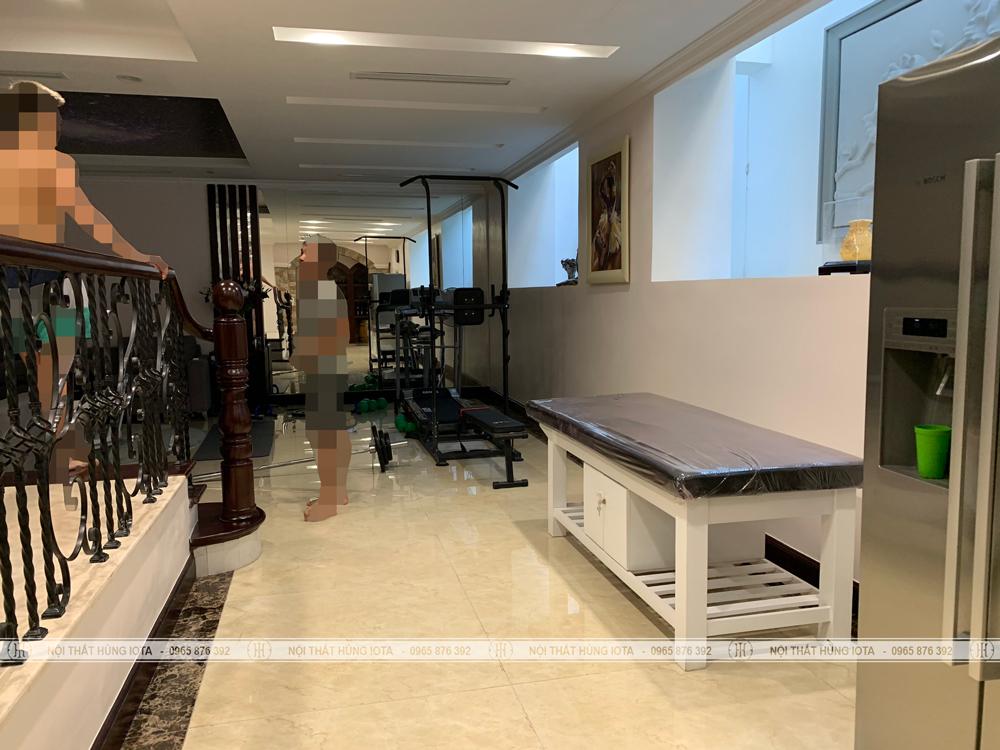 Giường massage gia đình cao cấp mẫu sang trọng đẹp giá rẻ màu trắng