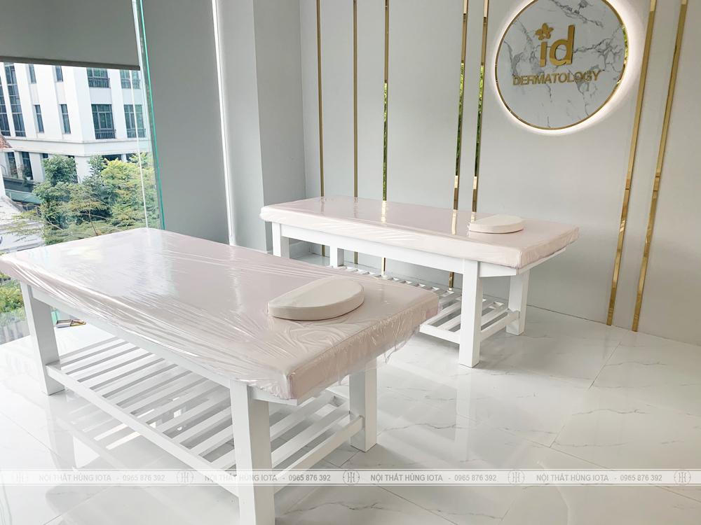 Giường thẩm mỹ viện màu trắng đẹp giá rẻ tại Bà Triệu