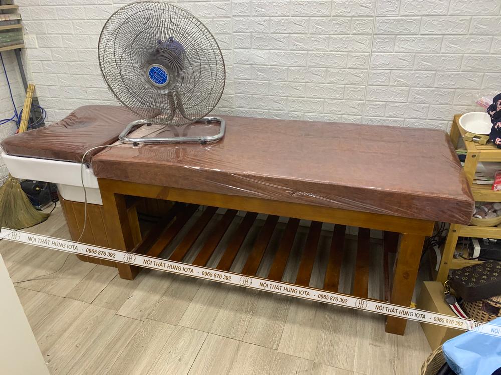 Lắp đặt giường gội đầu dưỡng sinh 2 in 1 tại Thanh Trì cho chị Hoàng Yến