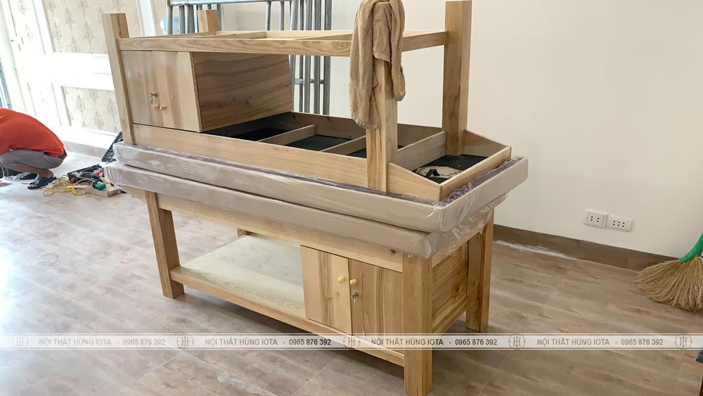 Lắp đặt giường spa có tủ cho khách hàng tại Lạng Sơn