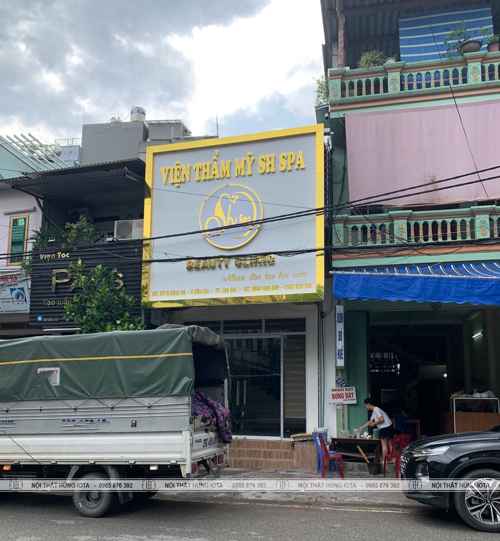 Lắp đặt nội thất thẩm mỹ viện SH Spa Lào Cai