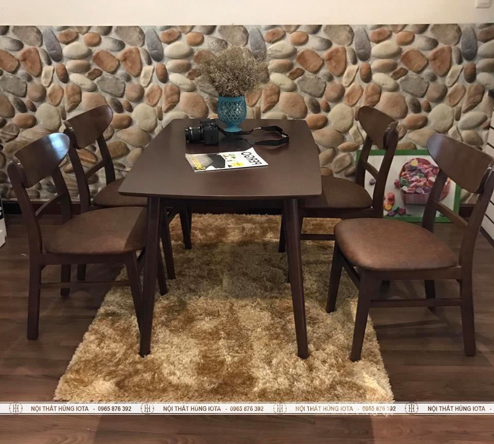 Bàn ghế ăn Mango 4 ghế cho nhà chung cư đẹp giá rẻ