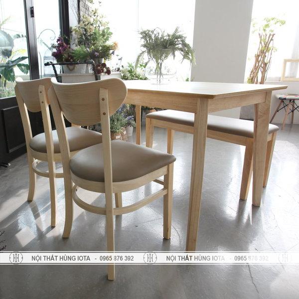 Bàn ghế làm việc Mango hay bộ bàn trà 4 ghế đẹp giá rẻ màu vàng gỗ