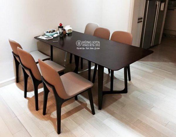 Bàn ăn gia đình 6 ghế Ventura chân chữ M decor đẹp giá xưởng