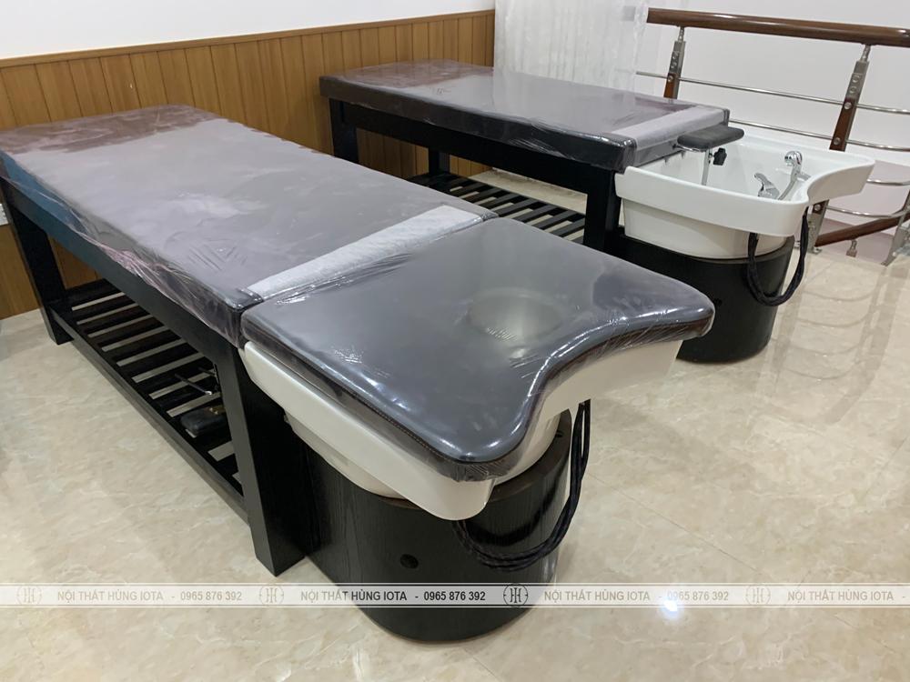Giường gội dưỡng sinh spa làm massage body màu đen