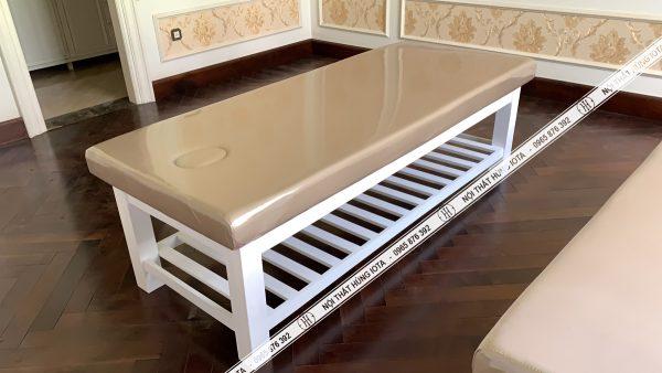 Giường massage body chân thấp đẹp giá rẻ tại xưởng sản xuất Hùng Iota