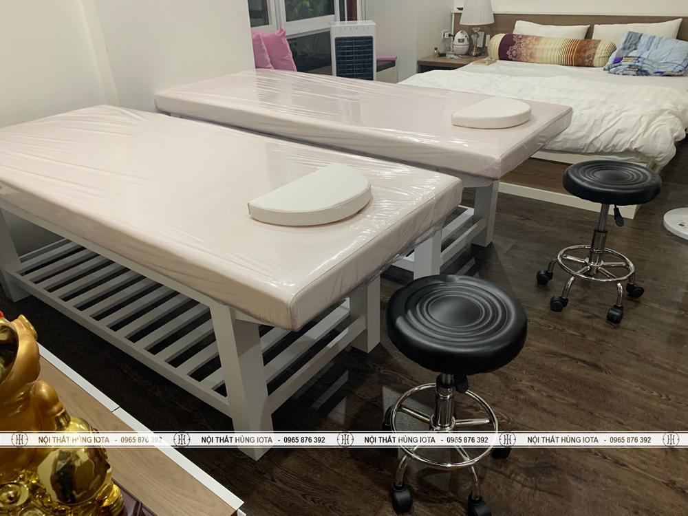 Giường massage body cho spa tại khu đô thị Palm Garden Việt Hưng Long Biên