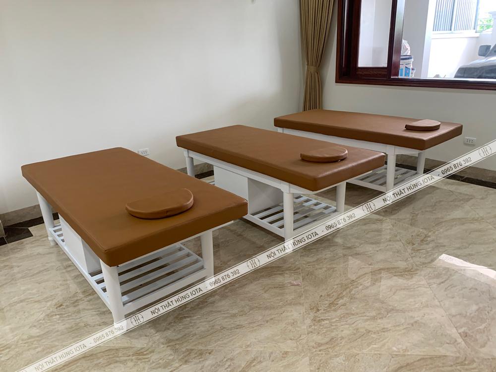 Giường massage body tại Quảng Ninh màu trắng đẹp giá rẻ