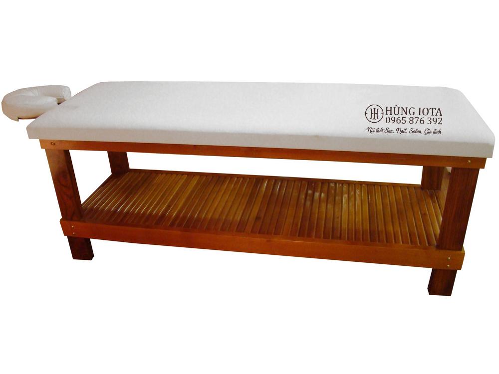 Giường massage nghỉ dưỡng cao cấp sang trọng có tay để khăn