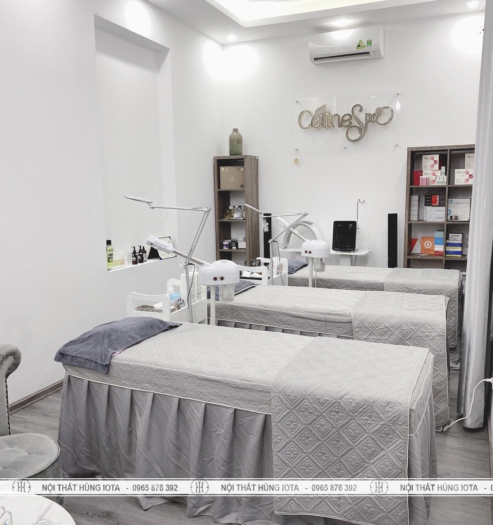 Giường spa lắp đặt tại Cầu Giấy cho Celine Beauty & Spa