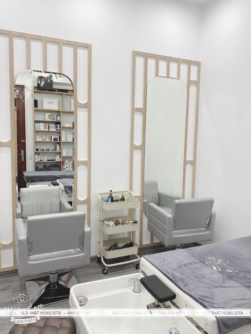 Gương cắt tóc trang điểm và giường gội dưỡng sinh đẹp giá rẻ tại xưởng