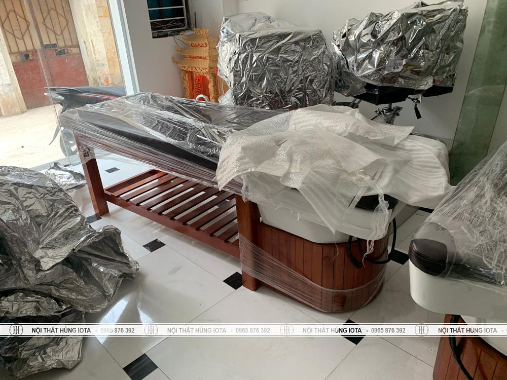 Lắp đặt giường gội cho salon tóc đẹp giá rẻ tại Hà Đông