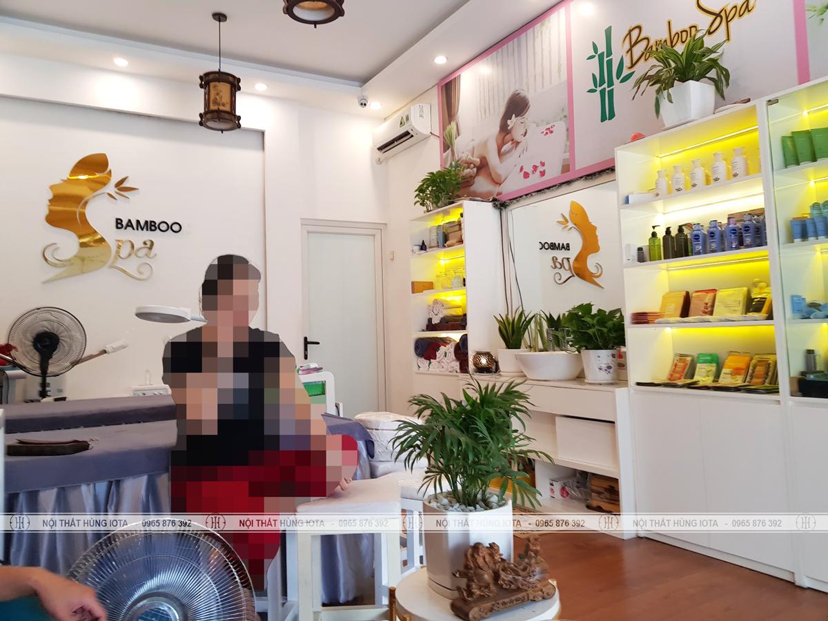 Lắp đặt nội thất Bamboo Spa ở Vĩnh Phúc đẹp sang trọng