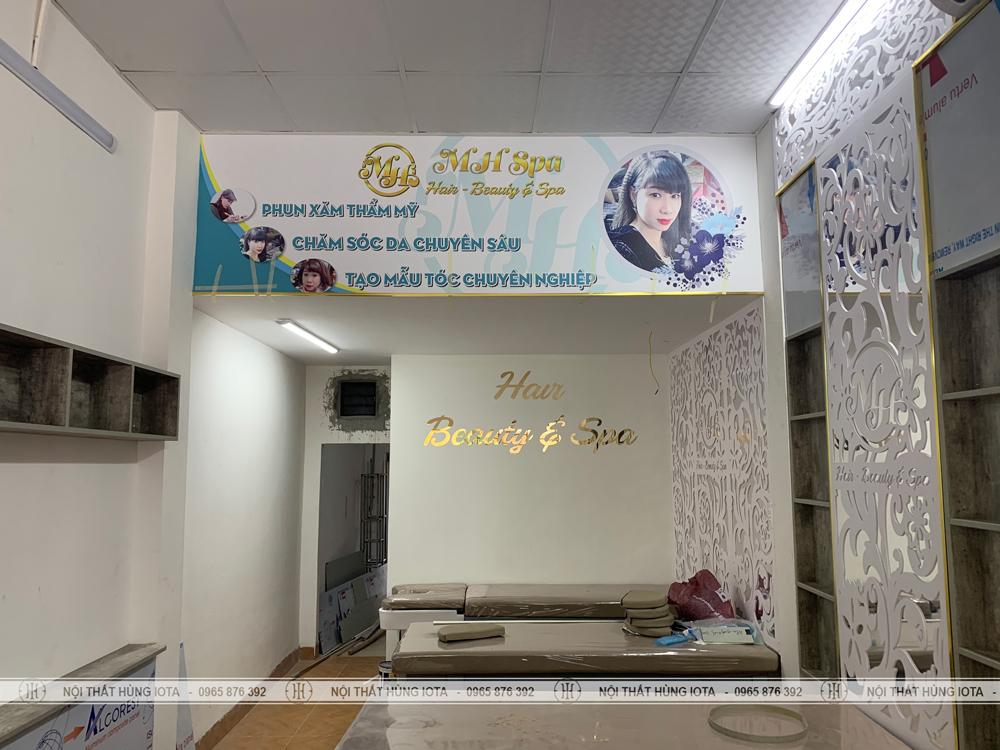 Lắp đặt nội thất MH Spa gồm Hair Beauty & Spa ở Long Biên đẹp