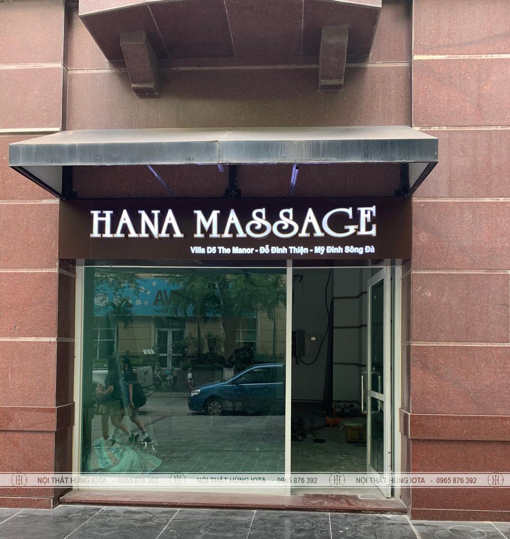Lắp đặt nội thất cho Hana Massage tại Mỹ Đình